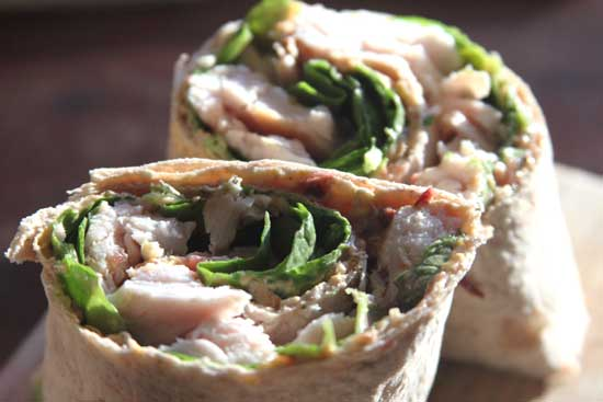 Thanksgiving leftovers sandwich wrap