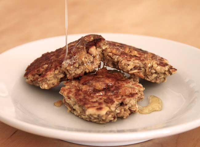 oat cakes with honey