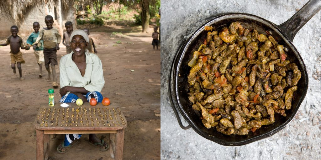 Gabriele Galimberti's photo of a Malawi grandmother with her dish of caterpillars