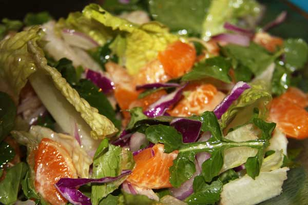 Tangerine and watercress salad