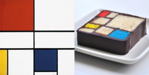 Desserts inspired by modern art