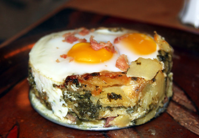 baked eggs with au gratin