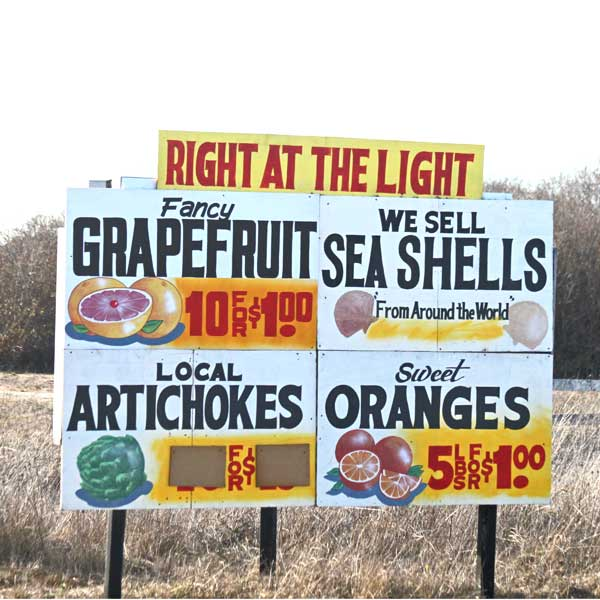Roadside Produce Sign, Highway 152 in Watsonville