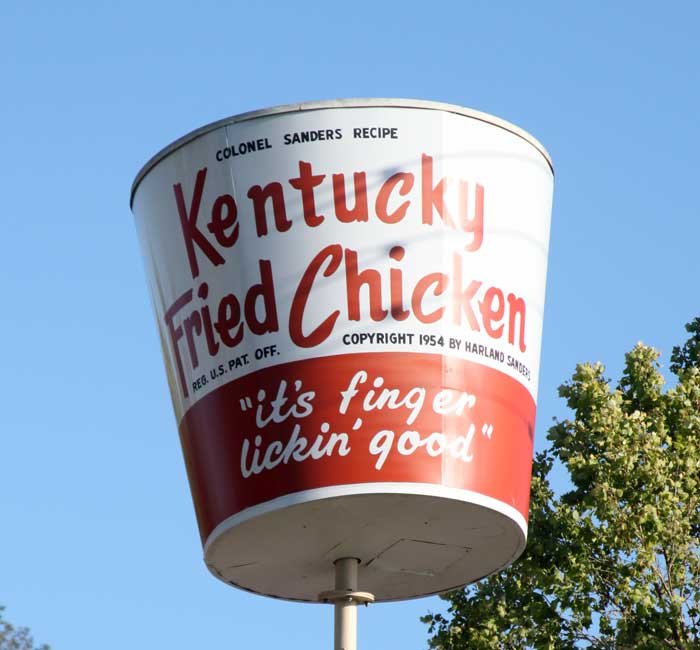 Vintage KFC bucket sign, San Jose
