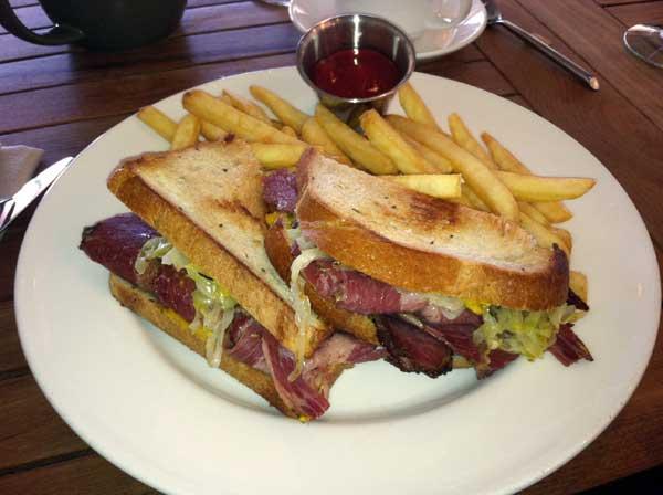 Artisan reuben sandwich