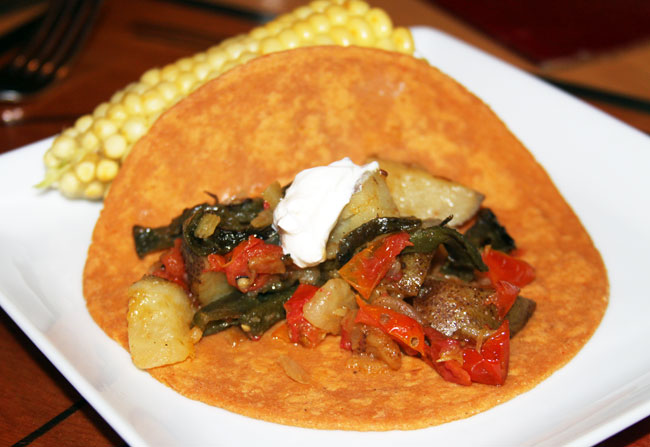 Meatless Monday: potato filled tacos