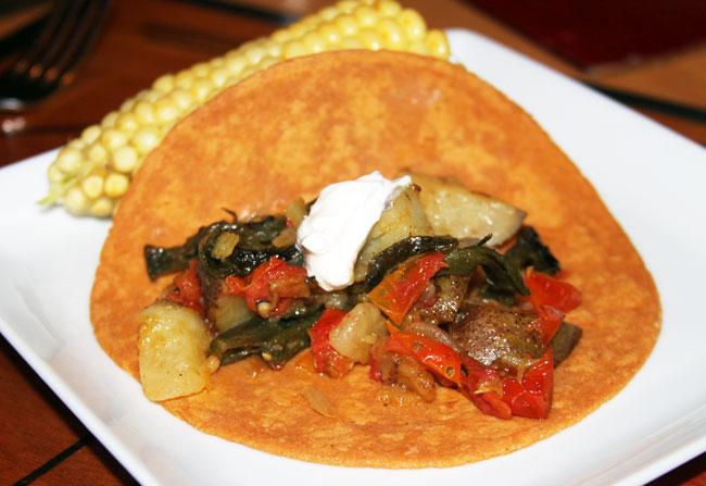 Meatless Monday: potato filled tacos