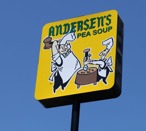 Americana on the road: Andersen's split pea soup