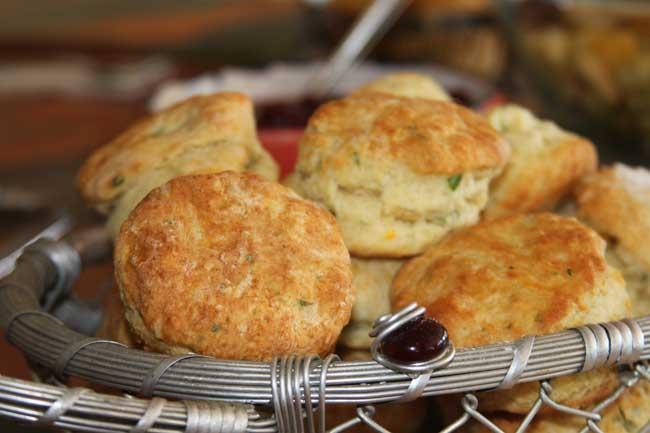 Herb and nasturtium biscuits à la Julia Child