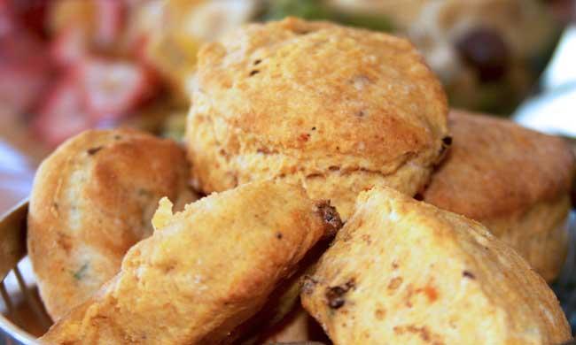 Sweet potato and bacon biscuits à la Emeril Lagasse