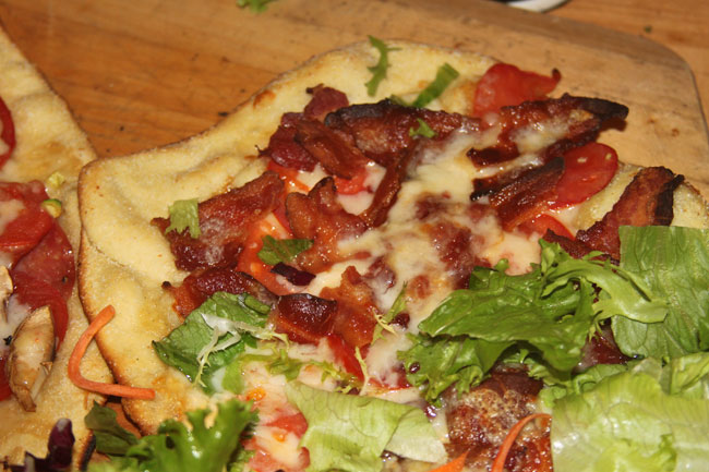 provel and bacon pizza