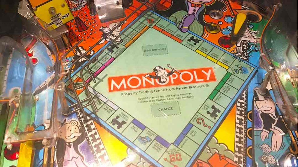 Monopoly pinball game