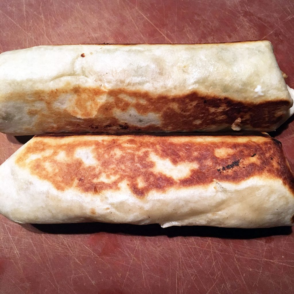 Browned flour tortillas